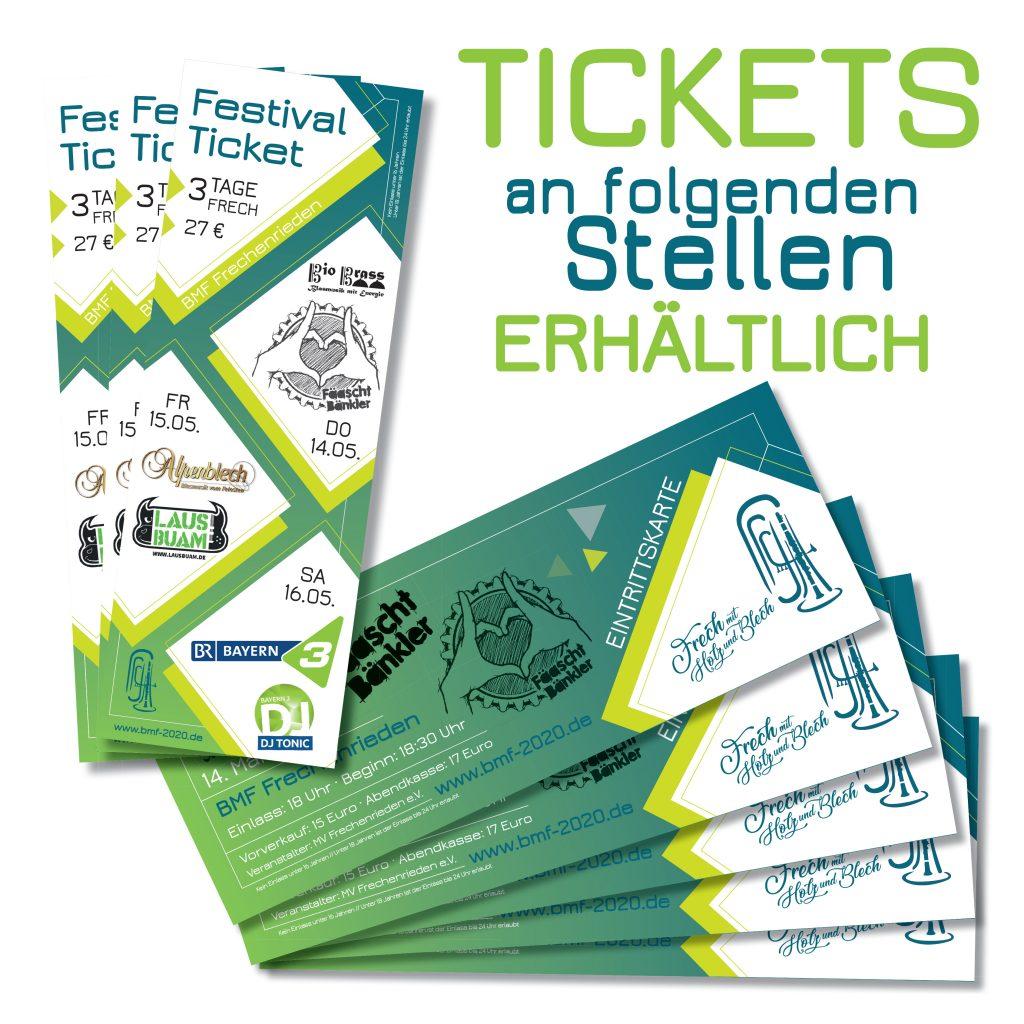 2020 Kartenvorverkauf Frechenrieden Bezirksmusikfest Fäaschtbänkler