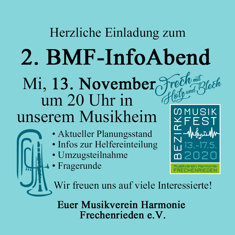 2. Infoabend bmf Frecherieden