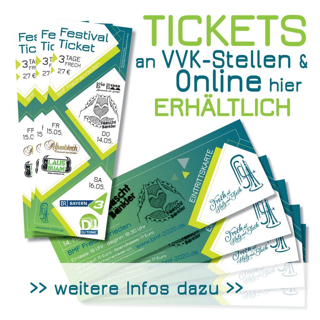 BMF 2020 Kartenvorverkauf und Onlineshop VVK Frechenrieden
