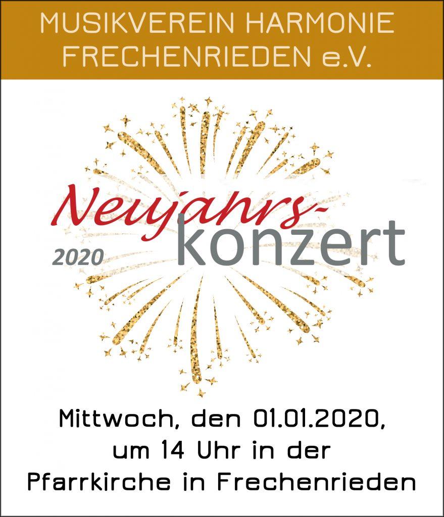 Neujahrskonzert Musikverein Harmonie Frechenrieden BMF 2020 Jubiläumsjahr Start