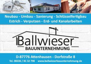 Ballwieser Sponsor BMF Frechenrieden