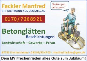 Fackler Sponsor BMF Frechenrieden