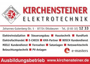 Kirchensteiner Sponsor BMF Frechenrieden