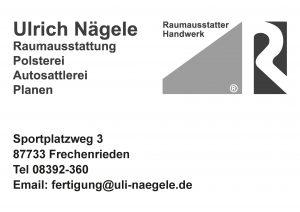 Naegele Raumausstattung Sponsor BMF Frechenrieden