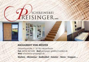 Schreinerei Preisinger Sponsor BMF Frechenrieden