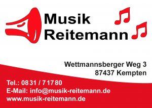 Musik Reitemann Sponsor BMF Frechenrieden