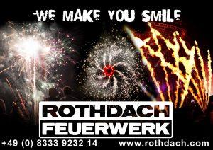 Rothdach Feuerwerk Sponsor BMF Frechenrieden