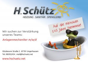 Schuetz Heitzung Sanitaer Spenglerei Sponsor BMF Frechenrieden