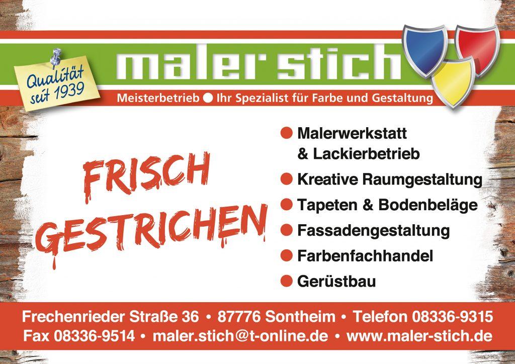 Maler Stich Sponsor BMF Frechenrieden