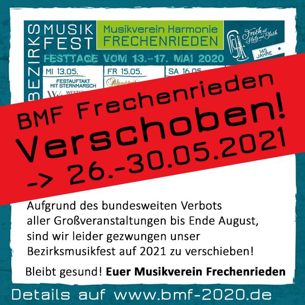 BMF Frechenrieden 2020 2021 Verschiebung